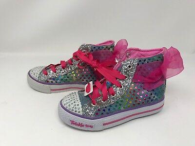 TWINKLE TOES SHUFFLES GLITTER GIRLY Shoes 411J Girls Skechers 10923L