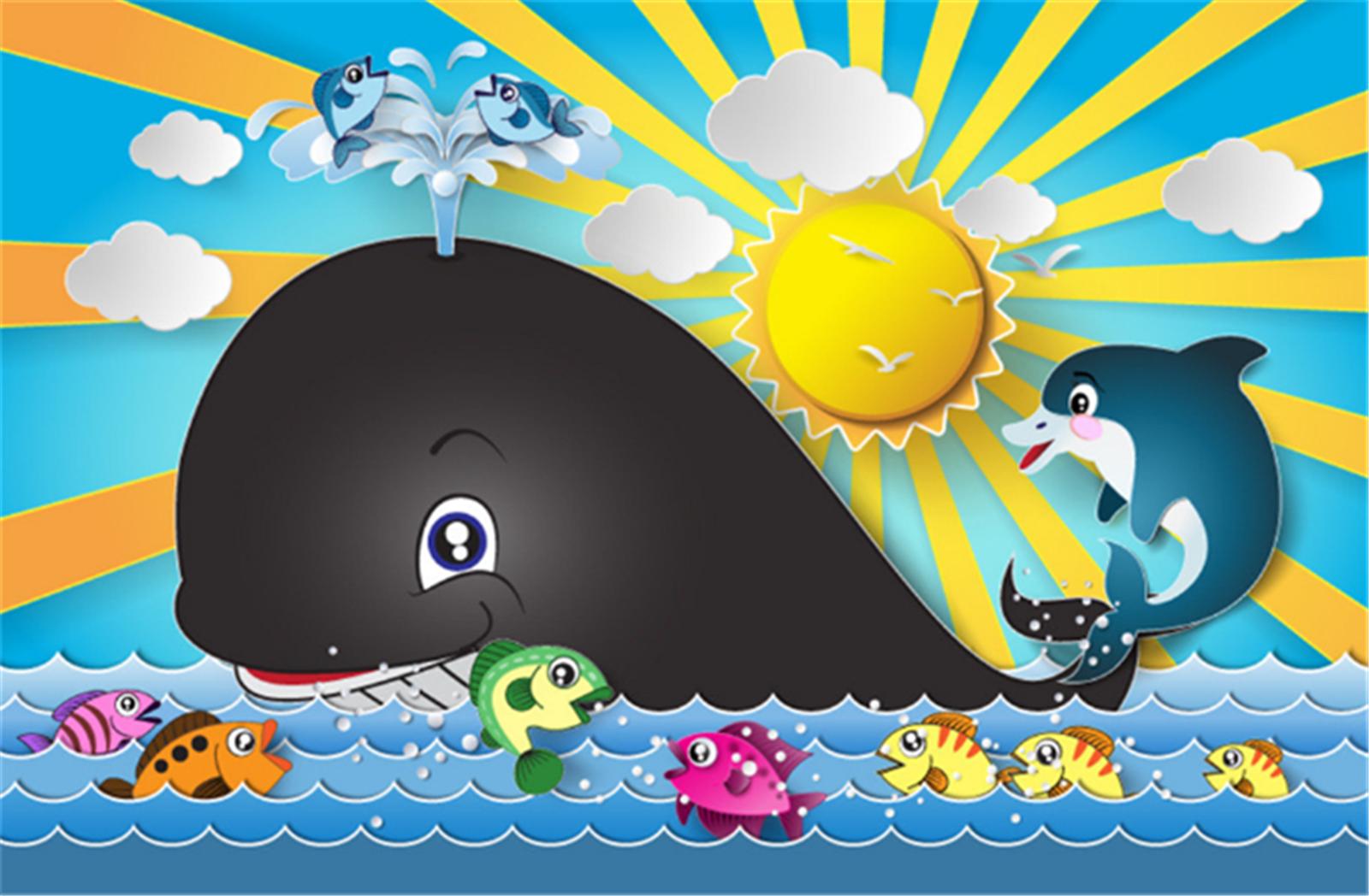 3D Wal Meer Karikatur 8465 Tapete Wandgemälde Tapeten Bild Familie DE Lemon | Zu einem niedrigeren Preis  | Neuheit Spielzeug  | Verschiedene Arten Und Die Styles
