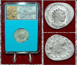 Roman-Empire-Coin-VALERIAN-I-Diana-Holding-Torch-On-Reverse-Silver-Antoninianus