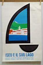 AFFICHE ANCIENNE ORIGINALE ISEO E IL SUO LAGO SULZANO ITALIE ITALIA