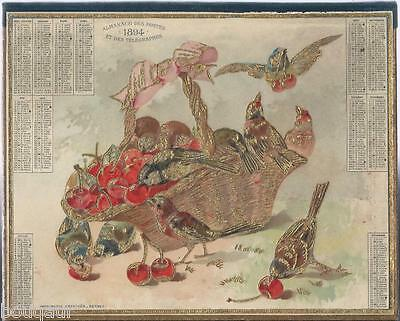Exceptionnel Almanach Calendrier OBERTHUR Postes et Télégraphes 1894 NEUF !!!