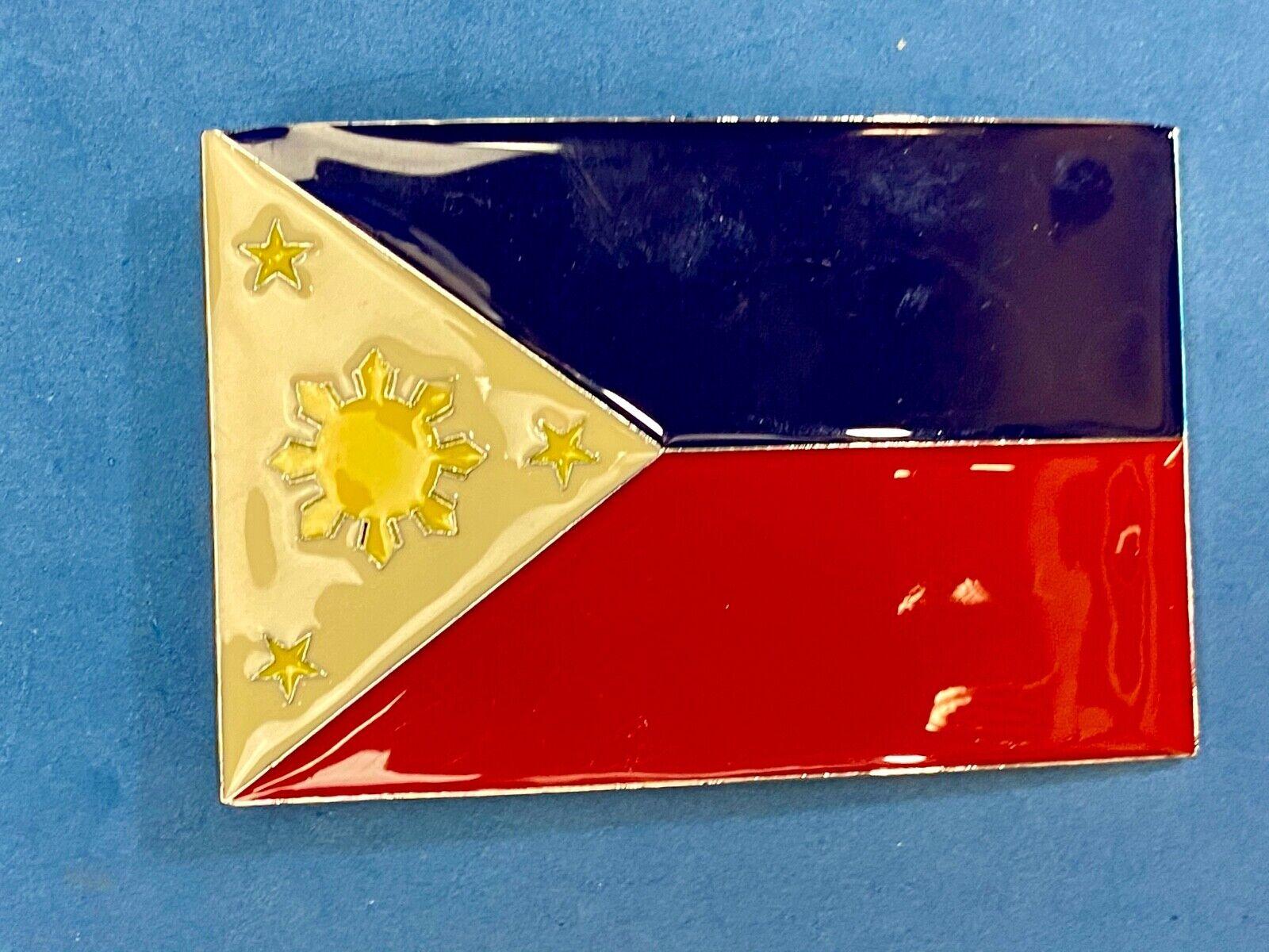 National Flag, Republic of the Philippines belt buckle by Emilio Aguinaldo 1897