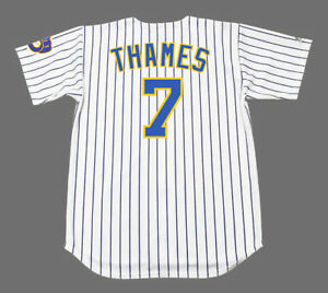 brand new 7d62c 8f9ff Details about ERIC THAMES Milwaukee Brewers Majestic Alternate Home  Baseball Jersey
