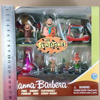THE FLINTSTONES FIGURINES SET HANNA BARBERA FRIGEO FIGURES COLLECTIBLES