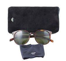 e68fddf3a4 Celine CL41067 s Thin Mary Sunglasses Cat-eye Tortoise Havana Frame Green  Lenses