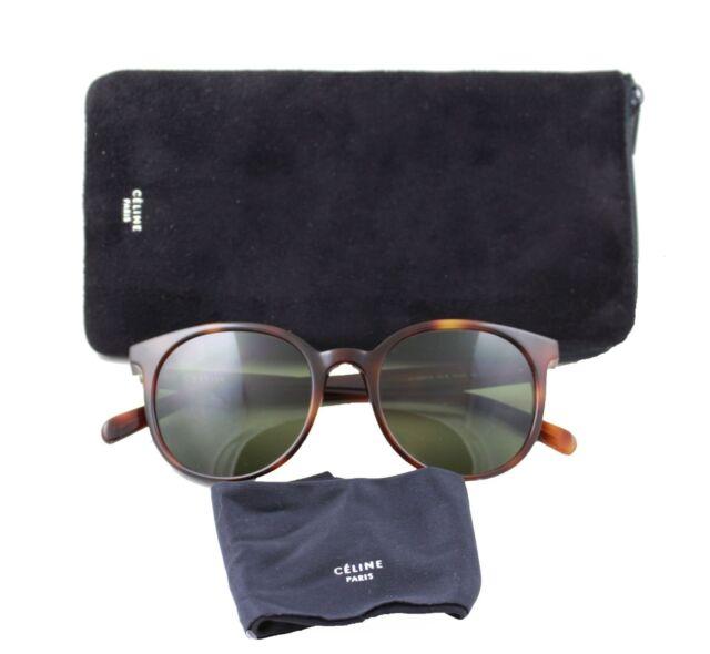 48649aeac65 Celine CL41067 s Thin Mary Sunglasses Cat-eye Tortoise Havana Frame Green  Lenses