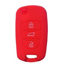 Red Silicone Flip Key Cover Holder Skin fit for KIA Sportage Optima Rio Fob