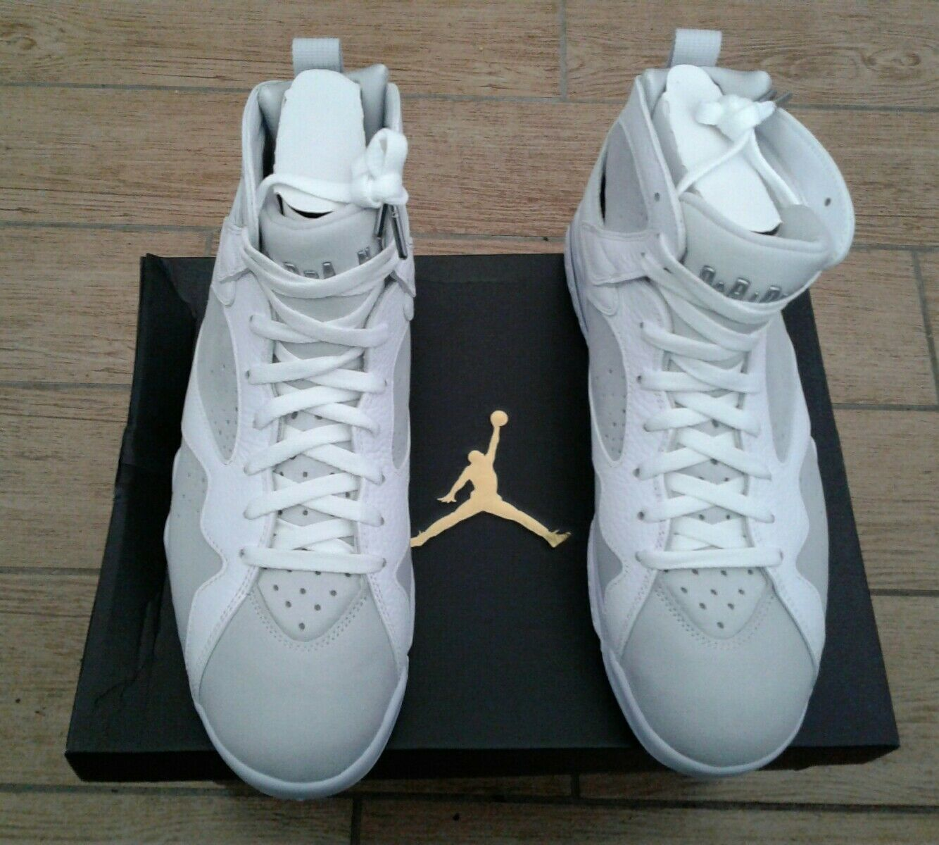 Air Jordan 7 Retro 'Pure Platinum' 304775-120 White Metallic Silver Men Sz 11.5