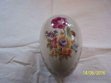 Un patrón floral sin caja Dresden en forma de huevo caja de la baratija Patrón Dorado