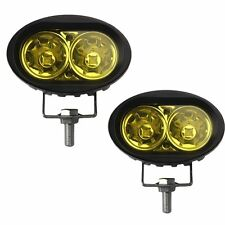 1 Pair  20Watt Car / Bike Led Auxiliary Cree LED Fog Lamp Yellow Light Bar Spot