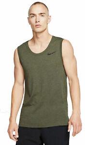 Details about Nike Men's Freizeit Fitness Sport Shirt Tank Top NK Dry Breathe Green