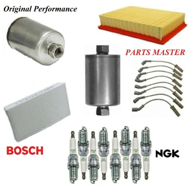 Tune Up Kit Filters Wire Spark Plugs For Cadillac Escalade