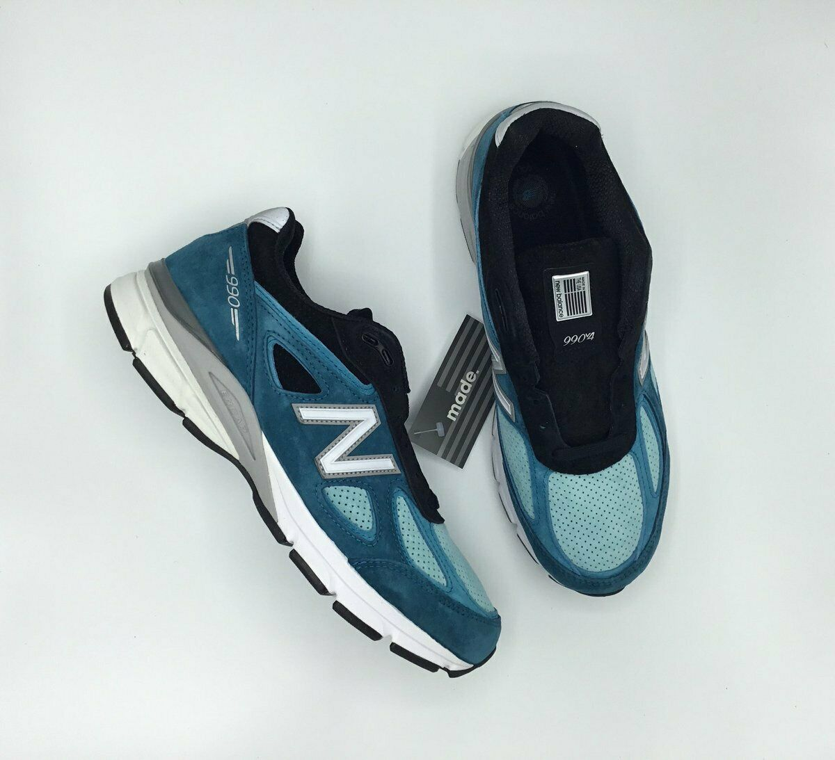 SALE NEW BALANCE 990 M990 M990DM4 MgoldCCAN blueE  SIZE 7.5-13 BRAND NEW IN HAND