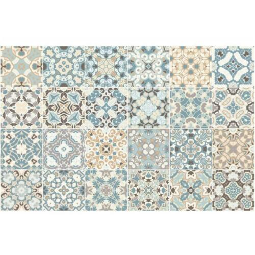 20//24pcs Moroccan Style Tile Effect Wall Stickers Kitchen Bathroom Self-Adhesive