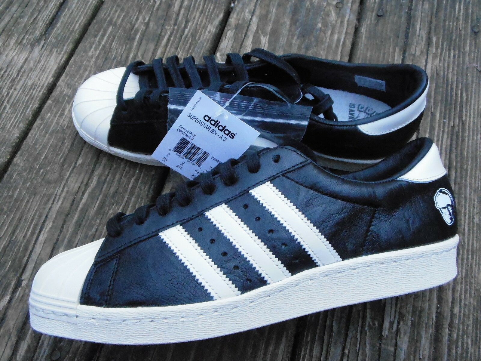premium selection f0184 20dbe Adidas Superstar 80v Adi Dessler A.D. B26279 black shoes sneaker 9.5  Anniversary low-cost