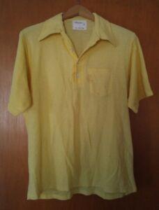 000-Vintage-Arrow-The-Masters-Yellow-XL-Big-Polo-Shirt
