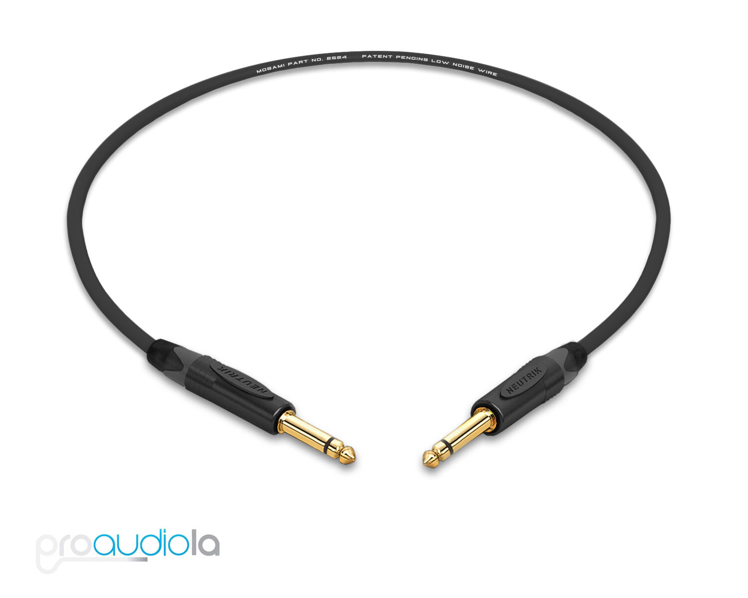 """Mogami Gold Speaker Cable Straight to Straight 15 ft 1//4/"""" TS to Same"""