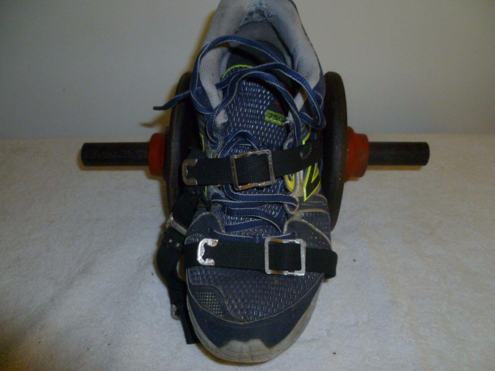 Zapato de peso y dos placas de peso de 5 lb Barbell Dumbbell extensión de pierna rodilla de rehabilitación,