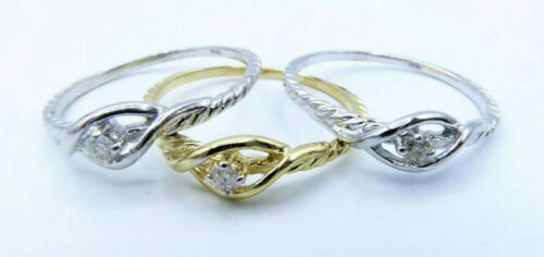 Mini Solitaire Diamond Ring Solid 14K Gold 0.03 ct Natural Diamond Promise Ring