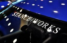 "Stance Works Vinyl Sticker 20"" - JDM Lowered Stanced Slammed Drift Low Circular"