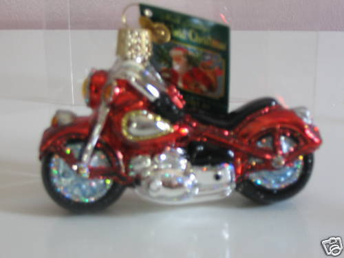 "Old World Christmas /""Motorcycle/"" Glass Ornament"