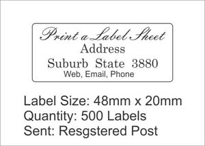 500-Personalised-Return-Address-Labels-Custom-Stickers-48mm-x-20mm-Laser-Printed
