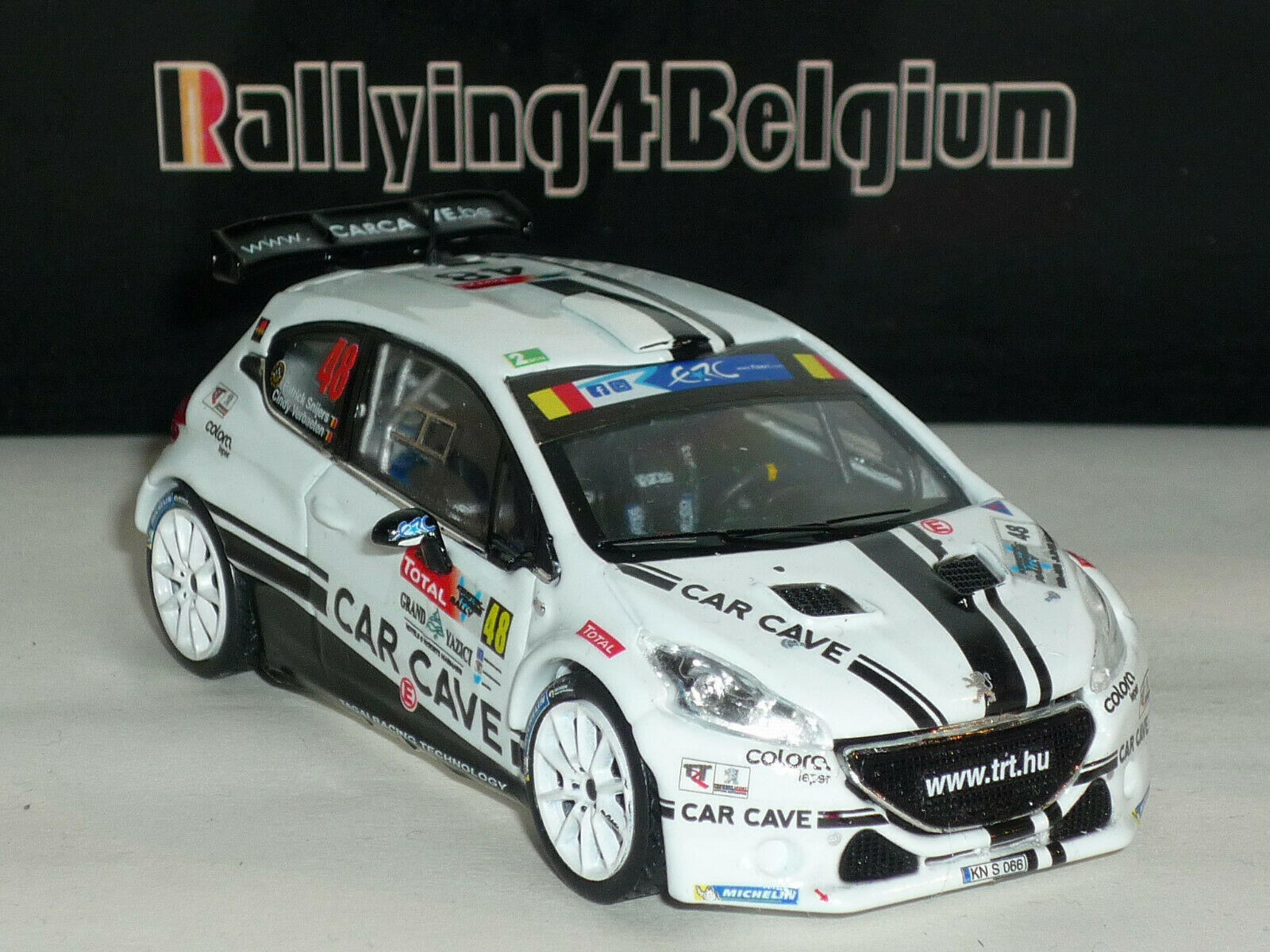 1 43 IXO Peugeot 208 T16 R5  48 ERC Rally Ieper Ypres 2016 Snijers RRS225
