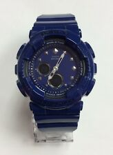 CASIO G-SHOCK Baby-G 2-Eye Blue Resin World Time Ana-Digi WATCH BA125-2A