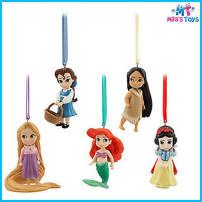 Disney Animators' Collection Sketchbook Christmas Ornament Set Ariel brand new