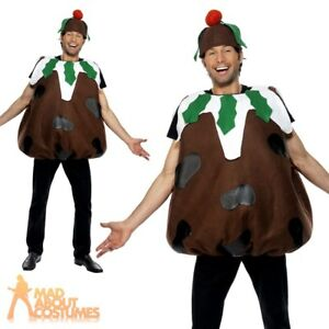 Christmas Pudding Outfit.Details About Adult Christmas Pudding Costume Mens Ladies Christmas Fancy Dress Xmas Outfit