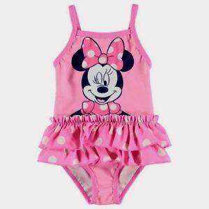 Disney Frozen BNWT Swimsuit Swimming Costume 1-2 Years 18-24 Months Pink UK