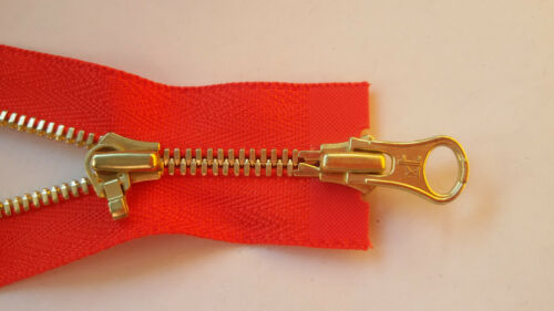 Cremallera corallenrot metal Excella 4mm divisible 2-vías ykk Zipper cipzár
