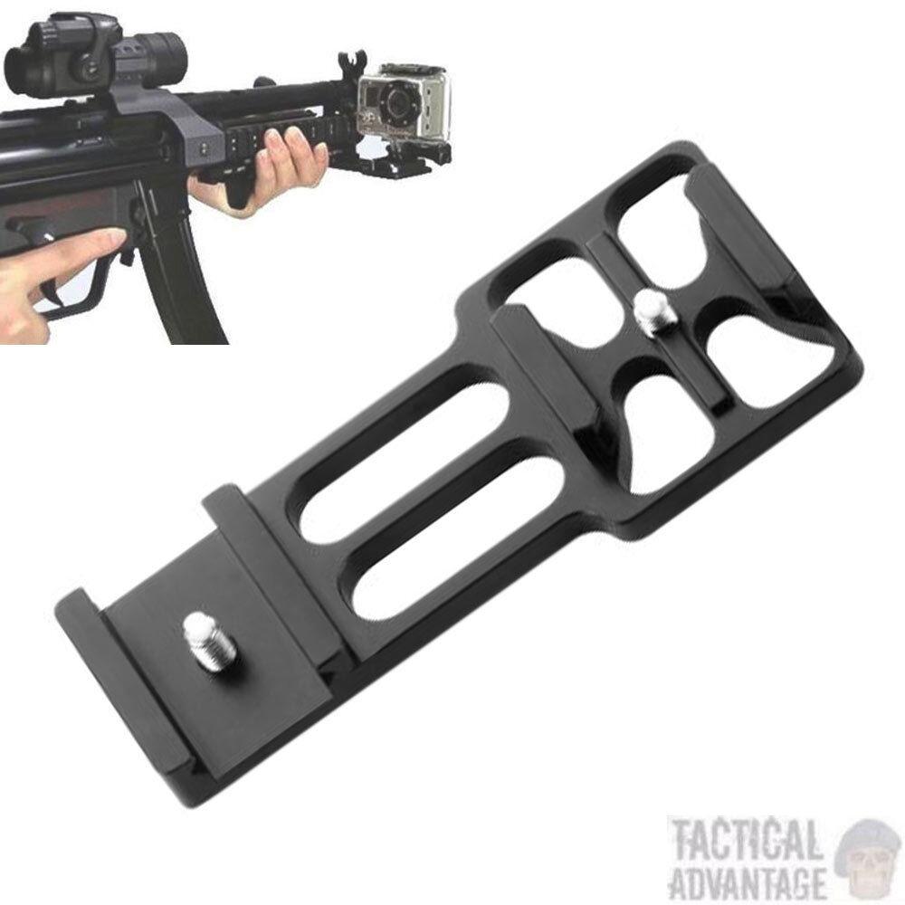 Offset Gopro Weaver Picatinny 20mm Gun Rail Camera Mount HERO 1 2 3 3+ 4 Airsoft