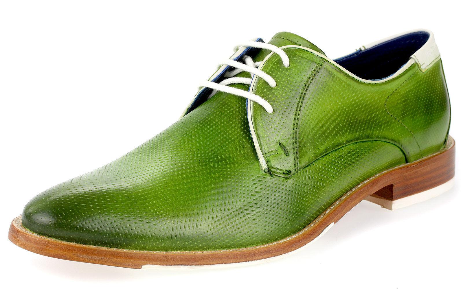 Daniel Hechter Business zapatos caballero derbys Echt Leder con cordones 22915 verde