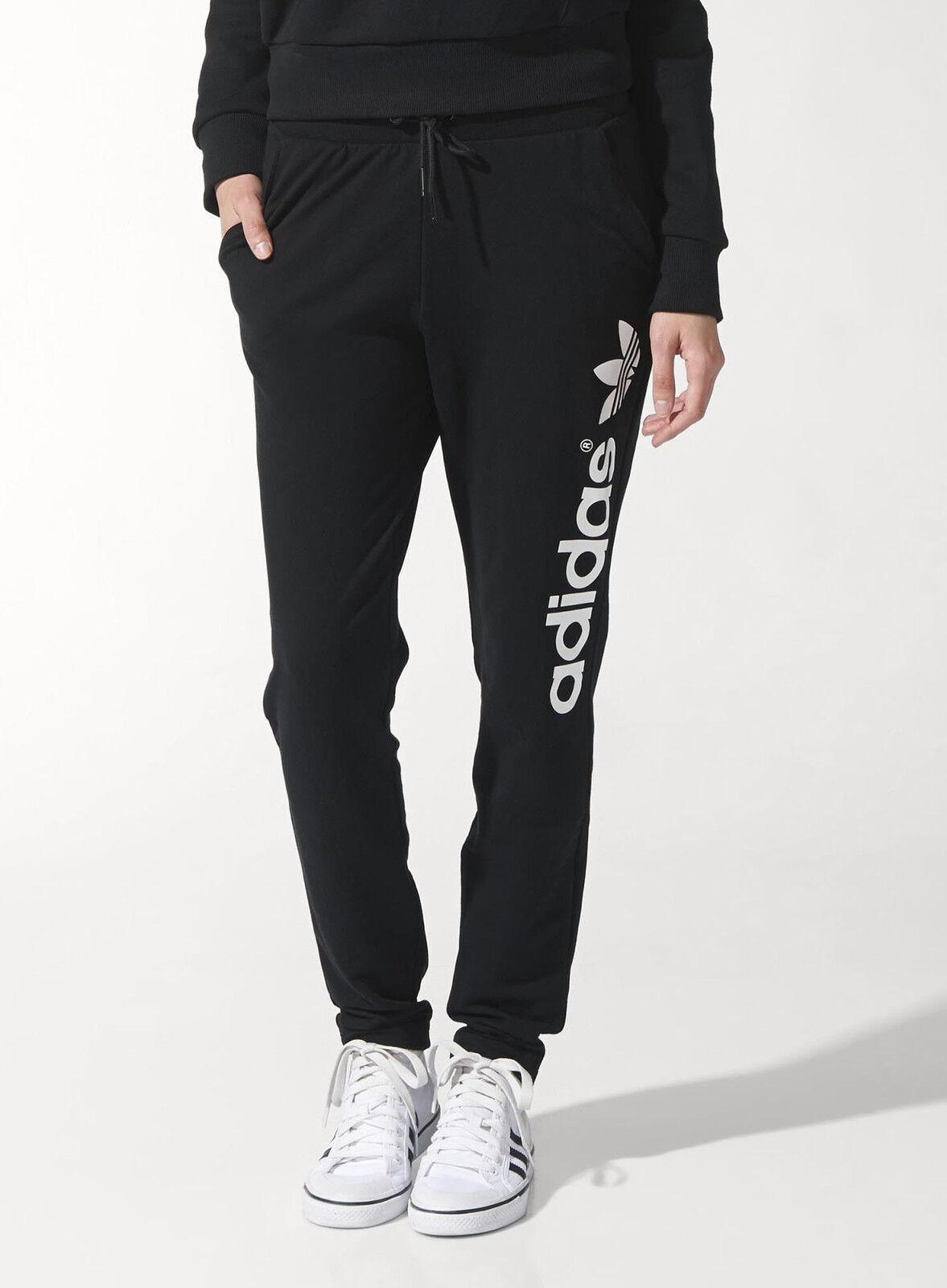 Adidas Adidas Adidas Originali Donna Nuovo Cotone Leggero da Corsa Trifoglio Pantaloni Jogging fedb75