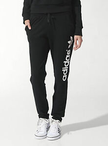 358ce45ffb1 Image is loading adidas-Originals-Ladies-New-Light-Cotton-Joggers-Trefoil-