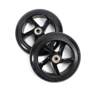 1-Paar-Scooter-Rollen-145-mm-wheels-schwarz-inkl-Lager-montiert-black-x2