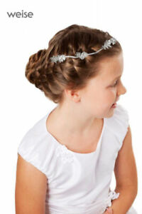 Kommunion Haarschmuck Mädchen weiss oder ivory Bändergesteck NEU