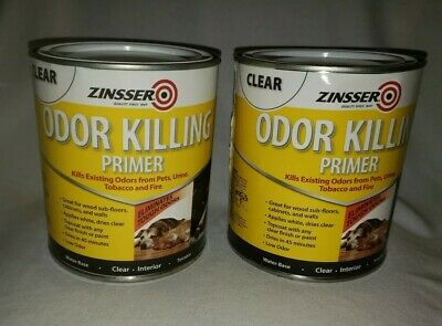 2 Cans Zinsser Odor Kill Clear Paint