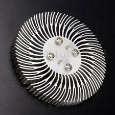 Round Spiral Aluminum Heat Sink Radiator For 10W High Power LED Lamp 90x10mm New
