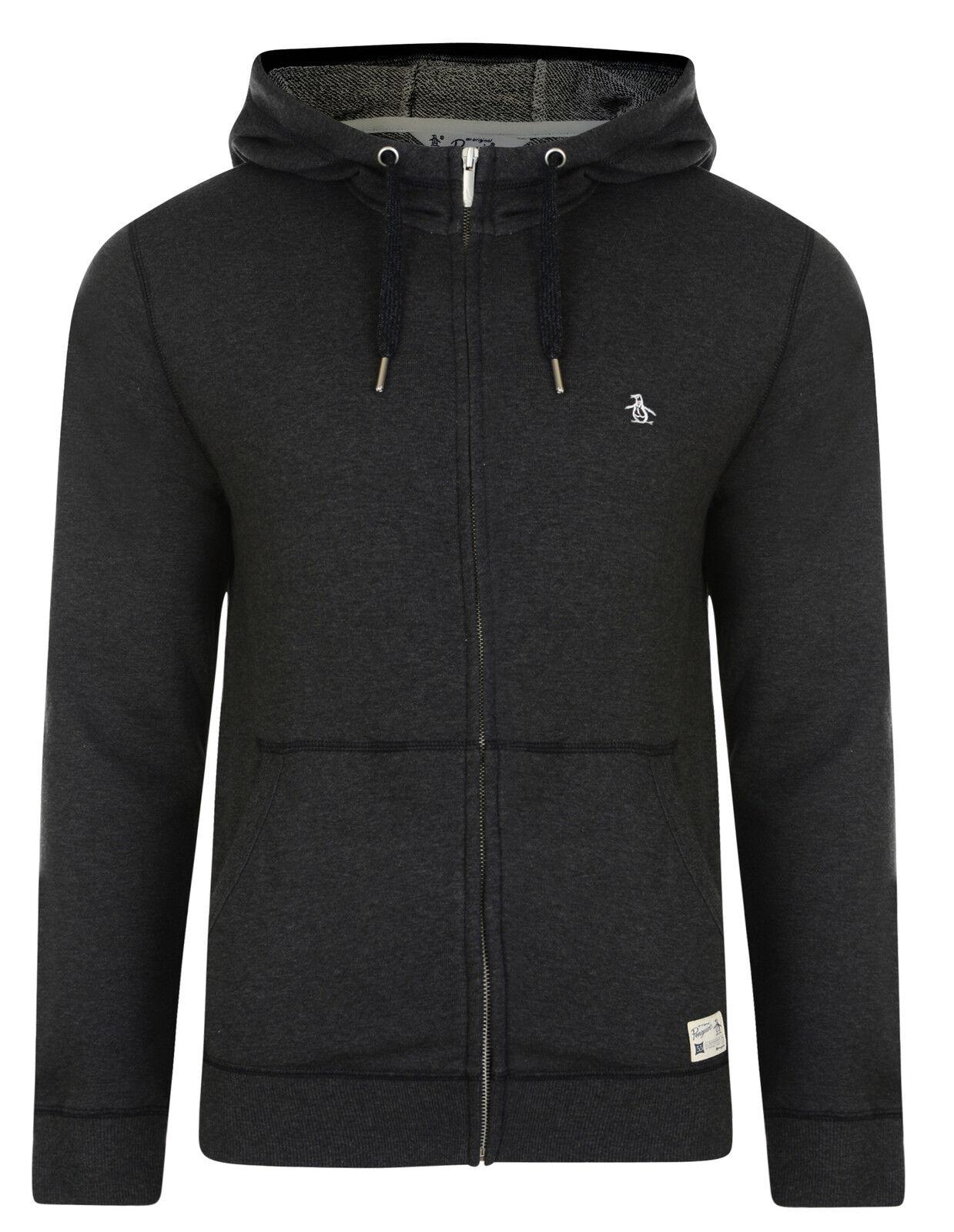ORIGINAL PENGUIN New Men's Loopback Loopback Loopback Cotton Zip Up Hooded Sweatshirt Top Hoodie f897f2