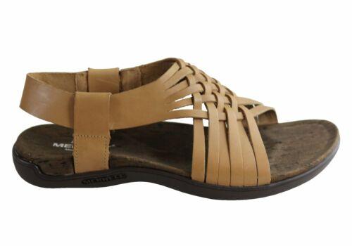 Merrell Womens Comfortable Leather District Mahana Backstrap Sandals SSA
