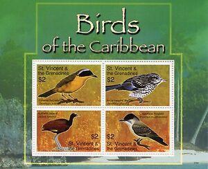 St-Vincent-amp-Grenadines-2007-neuf-sans-charniere-Birds-of-Caribbean-Jacana-Warbler-4-V-M-S-timbres
