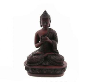 -statue Buddha Tibetisch Dhyani Vairochana IN Harz 13.5 CM 9386