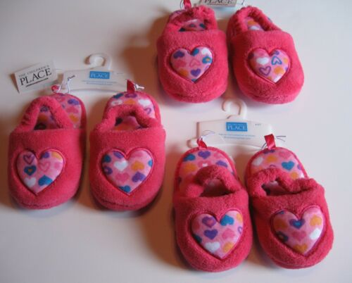 New Girl's The Children/'s Place Heart or Cupcake Slippers 4T//5T 6T//7T or 8T//9T