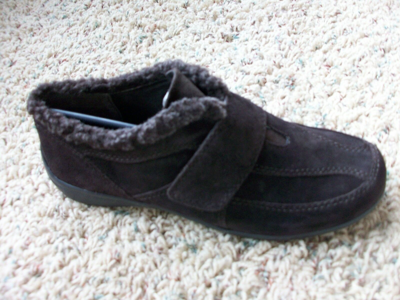 NEW EASY SPIRIT IGGY SLIP-ON LEATHER SHOES WOMENS 7.5 BROWN LOAFERS FREE SHIP