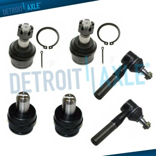 6pc Upper Lower Ball Joint Outer Tie Rod Kit for 1987-1996 Ford F-150-2WD ONLY