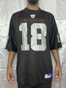 a6f0a176b47 VINTAGE REEBOK NFL OAKLAND RAIDERS RANDY MOSS #18 Size XL BLACK ...