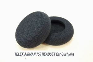 Details About Airman750 Foam Ear Pads For Telex Airman 750 Headset Ear Cushion Cover Sponge 2x
