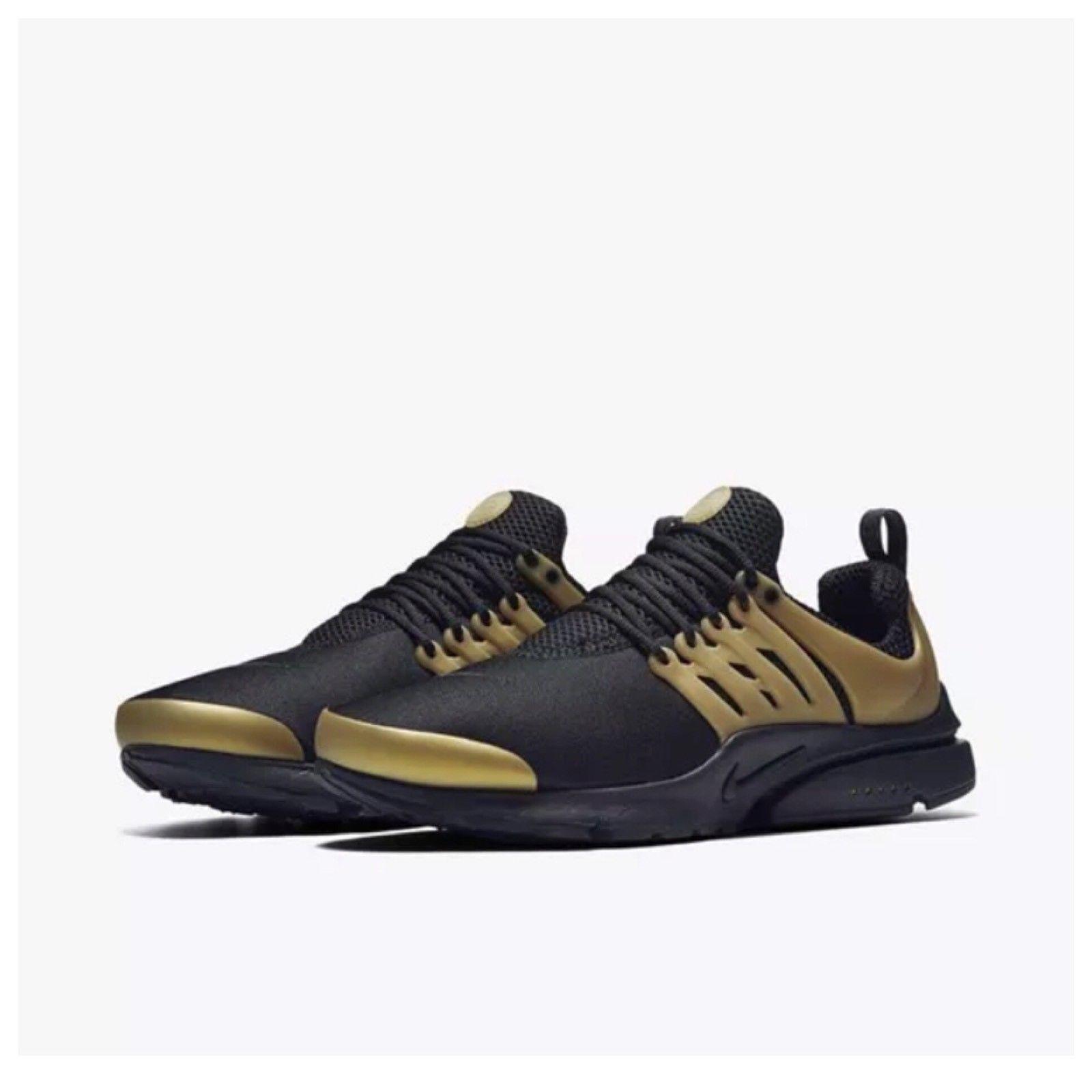 Nuove nike air presto indispensabile scarpe da uomo nero / oro metallico 848187 007